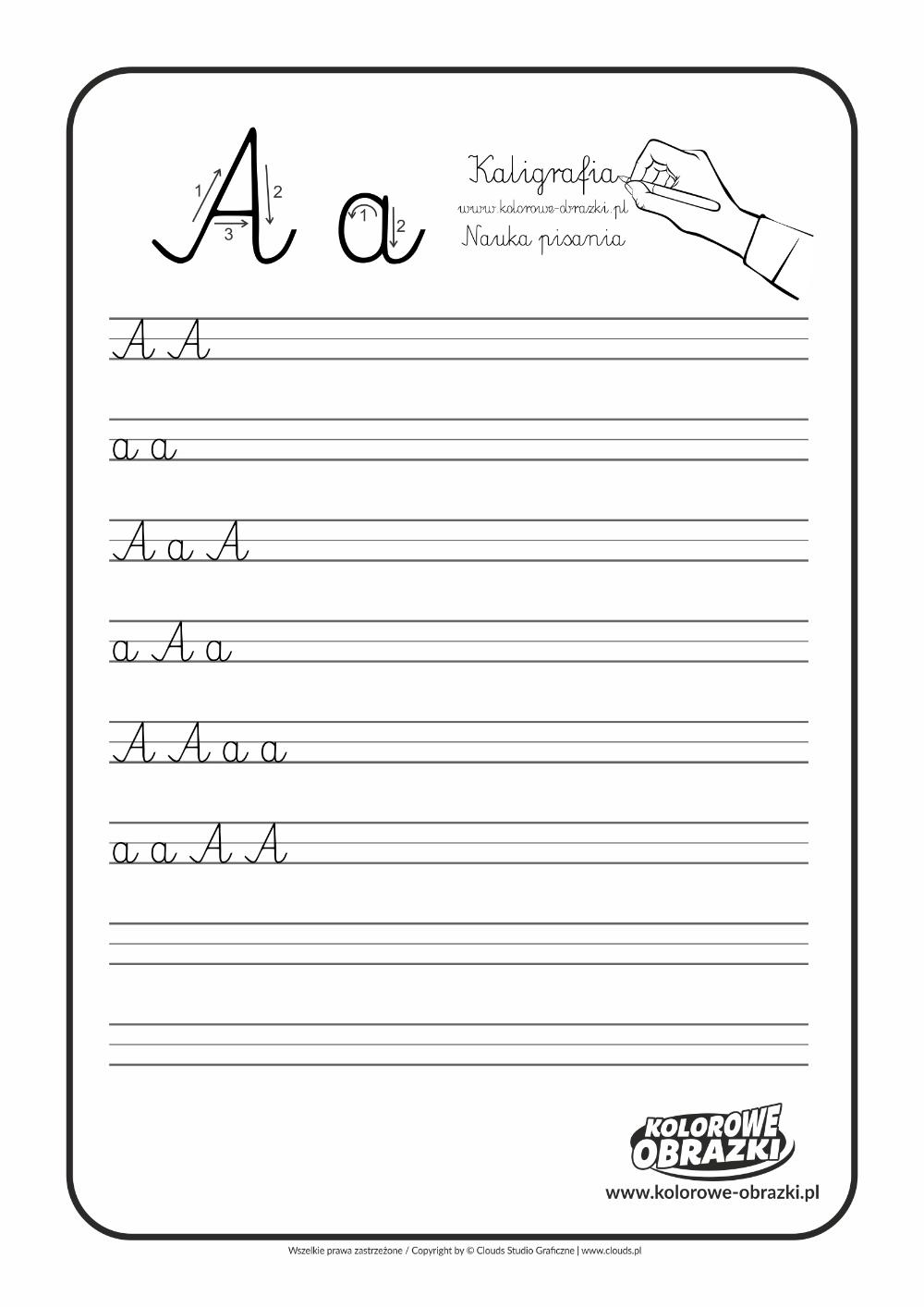 Litera A Kaligrafia Litery Kolorowanki Dla Dzieci Letters For Kids Calligraphy For Kids Cool Coloring Pages
