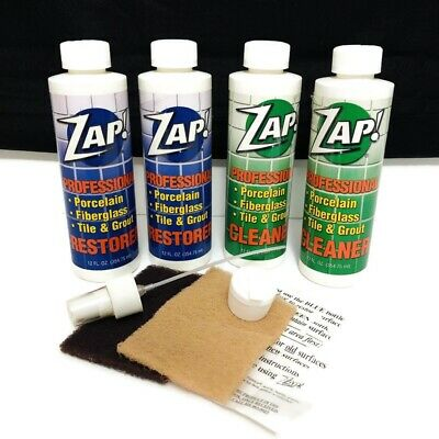 Use On Porcelain Fiberglass Tile Grout Two 12 Oz Containers Of Cleaner Spray Nozzle And Cap Professional Tile Grout Cool Stuff For Sale Fiberglass Shower Pan