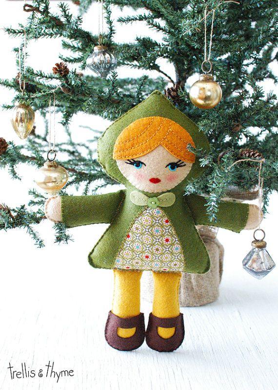 PDF Pattern - Quinn Doll Pattern, Felt Softie Pattern, Doll Sewing ...