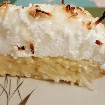 Coconut Cream Pie @keyingredient #pie