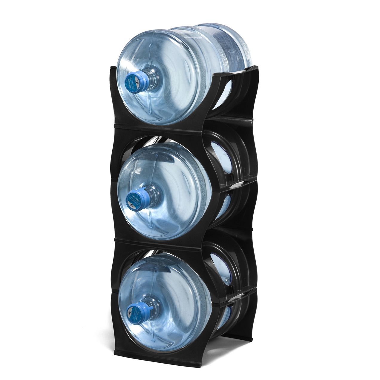 Black Water Bottle Rack For 3 Bottles 3 5 Gallon Jugs Storage