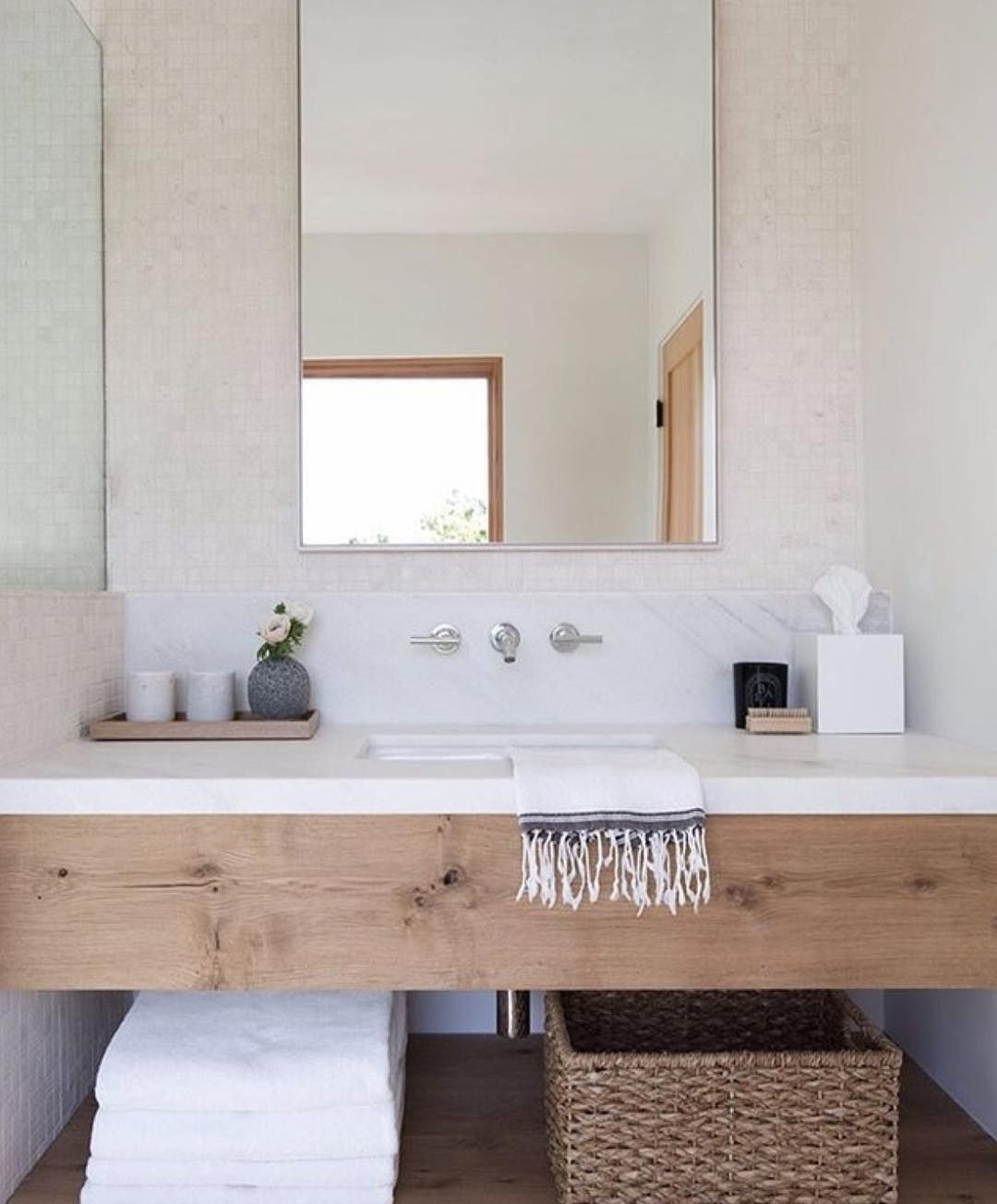 How Amazing Is This Vanity!!! The Simplicity Of The Chunky