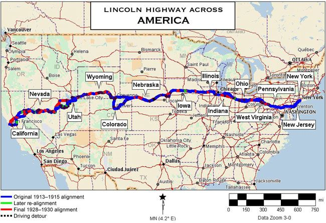 Lincoln Highway Map image from visitstockton Well before this