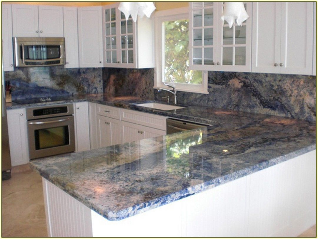 2018 blue granite countertop kitchen shelf display ideas check more at http