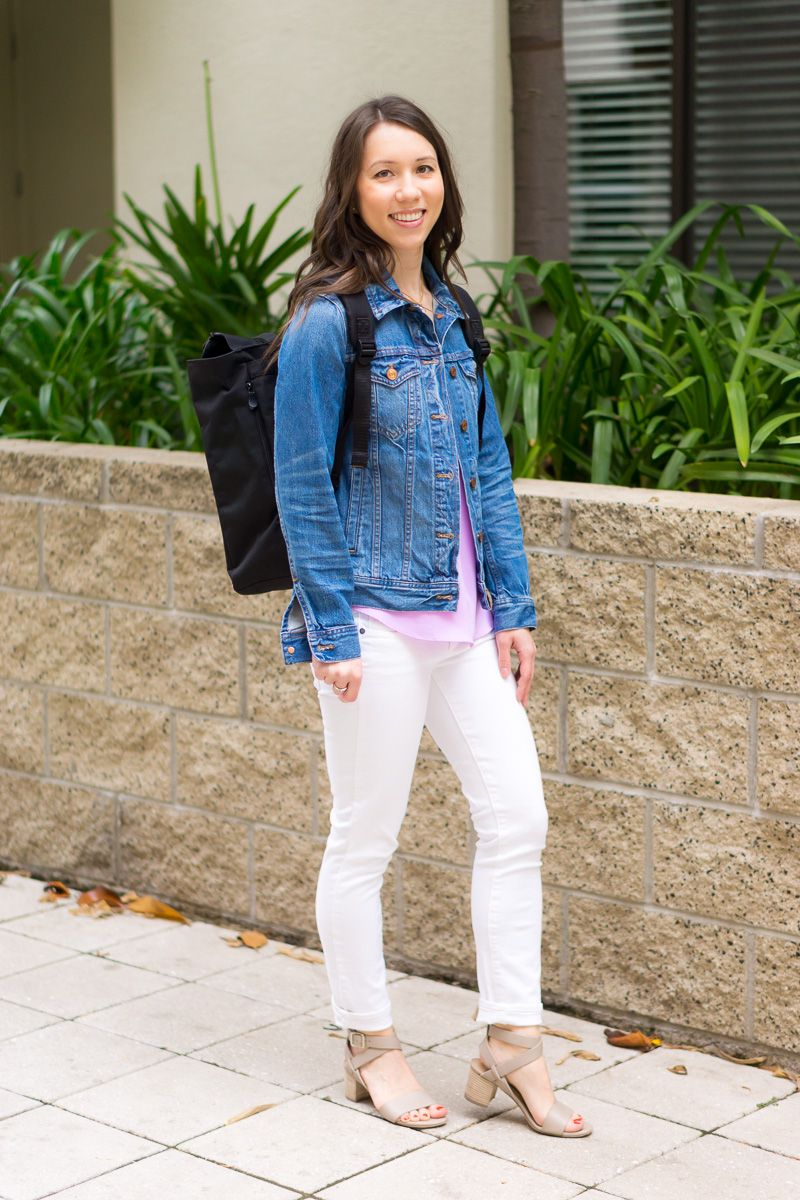11b16386258 Three ways to wear a denim jacket from J. Crew or J. Crew Factory stores in  petite-friendly sizing. Petite Fashion and Style Blog with Aqua lace dress