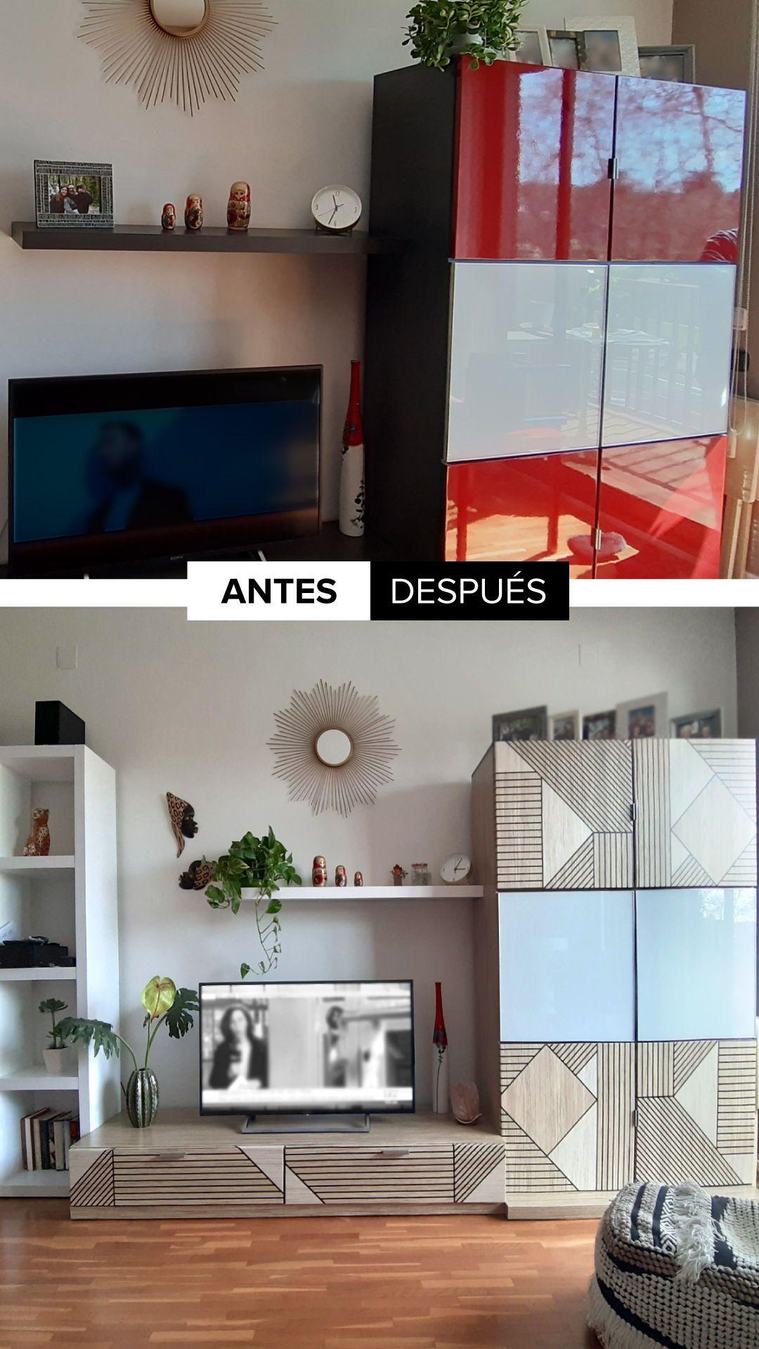 Madera Geométrica Negra Vinilo Adhesivo Lavable Para Mueble Y Pared En 2021 Muebles Decoraciones De Casa Madera