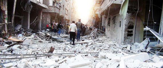 PHOTO: Ruins of Yarmouk Refugee Camp 86. #SaveYarmoukCamp