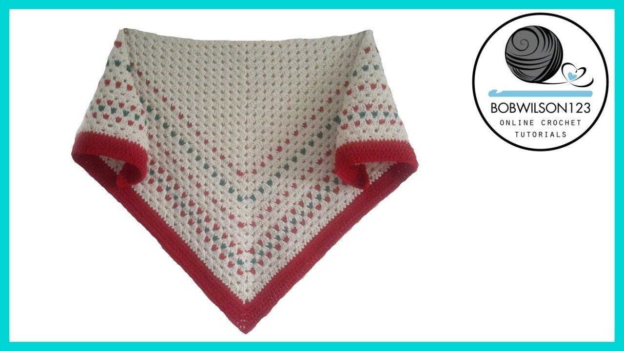 Crochet down the line shawl tutorial | Needle & Thread | Pinterest