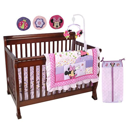 disney minnie mouse 8 piece crib bedding set disney babies r us baby ideas pinterest. Black Bedroom Furniture Sets. Home Design Ideas