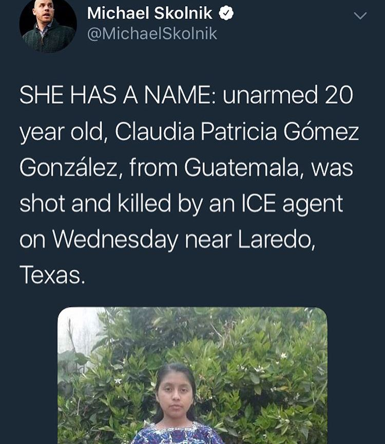 She was an indigenous woman looking for a job in the US.