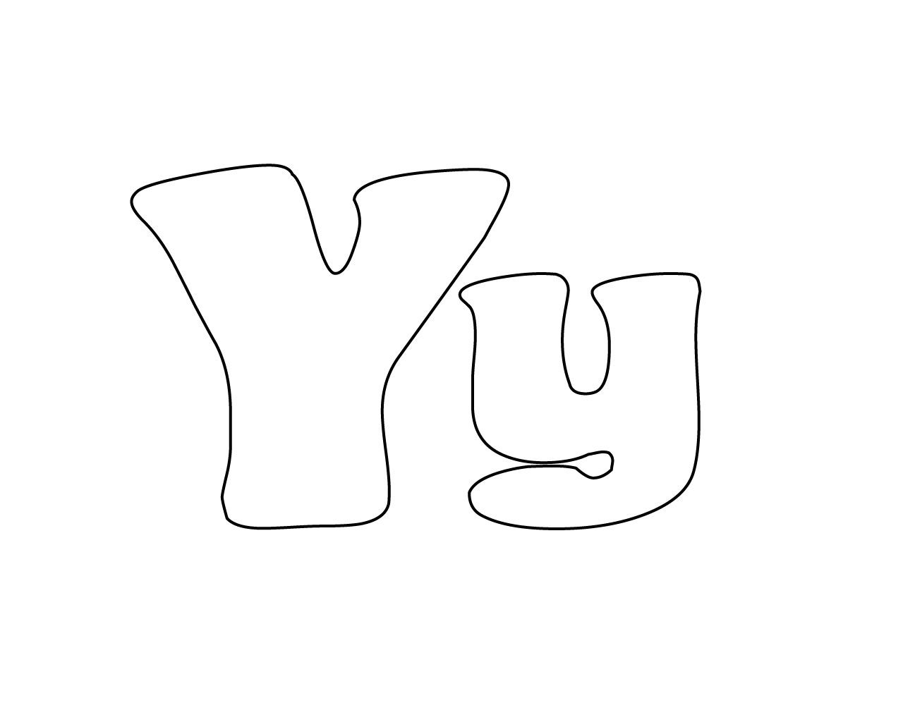 Letter Y Coloring Pages Coloring Pages Lettering Preschool Letters