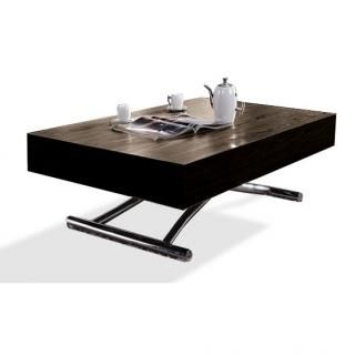 Table Basse Relevable Cube Wenge Extensible 10 Couverts Table Basse Relevable Table Basse Table Basse Relevable Extensible