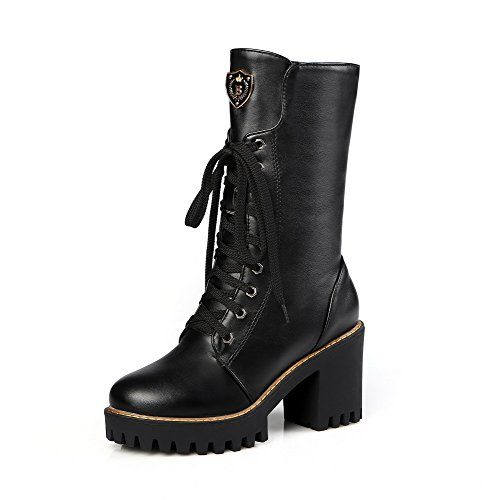 Women's High-Heels Soft Material Low-top Solid Zipper Boots