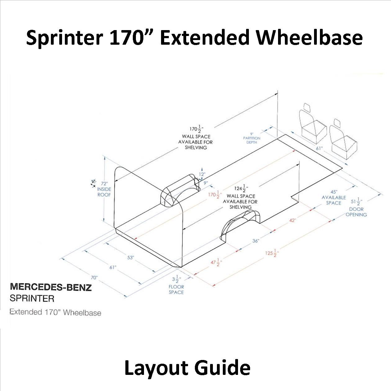 hight resolution of sprinter layout guide 170 extended wb inlad truck van company