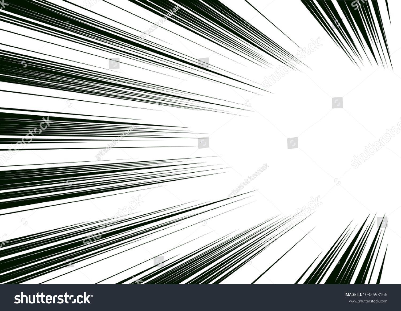 Comic And Manga Books Speed Lines Background Superhero Action Explosion Background Black And White Vector Illustration Line Background Background Screentone