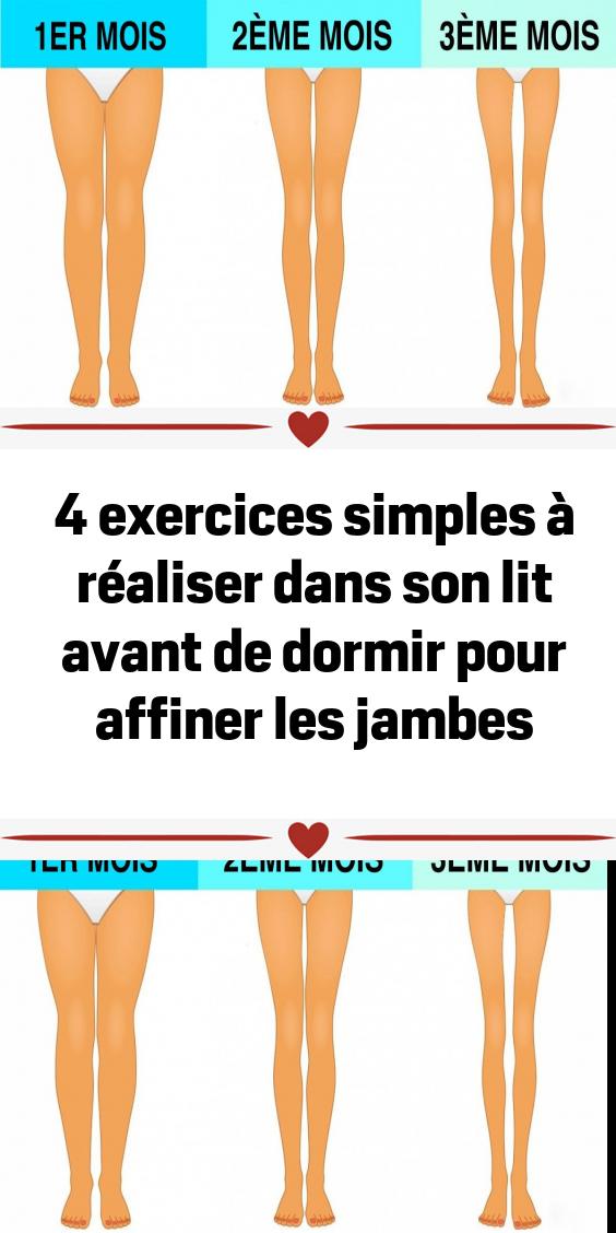 4 Exercices Simples A Realiser Dans Son Lit Avant De Dormir Pour Affiner Les Jambes Exercise Muscle Fitness Fitness