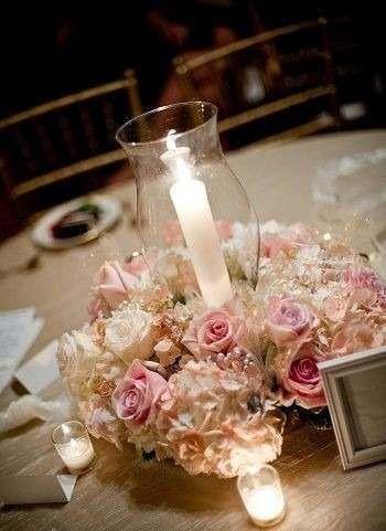 Centros de mesa con flores naturales casamientos 15 a os - Arreglo de flores naturales ...