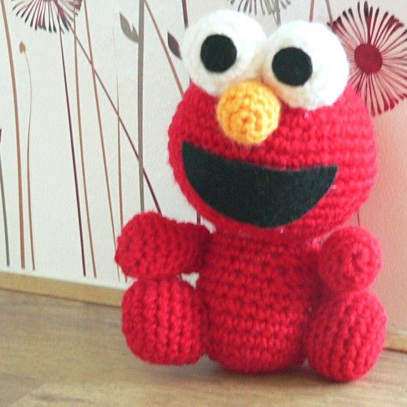 Amigurumi Sesamstraße Elmo Red Monster häkeln Muster von getfun ...