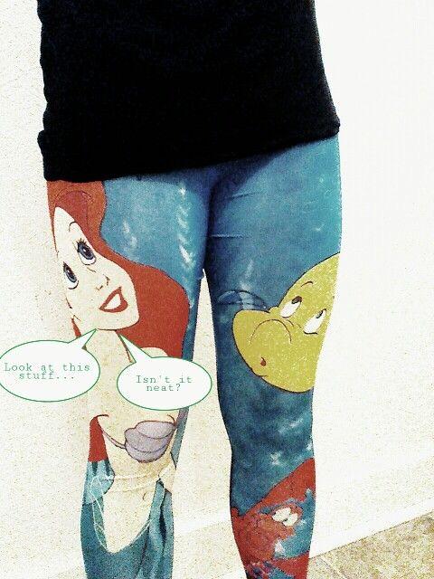 Little mermaid leggings :)