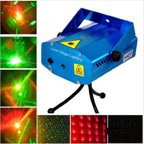 Mini Mixed Red & Green Stroboflash HolographicStage Lighting Hot R&G ...