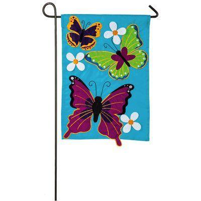 Evergreen Enterprises, Inc Summer Butterflies Garden Flag