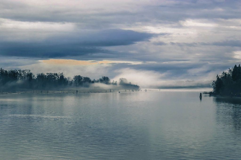 Fog rolls cross the river by dashakern on DeviantArt