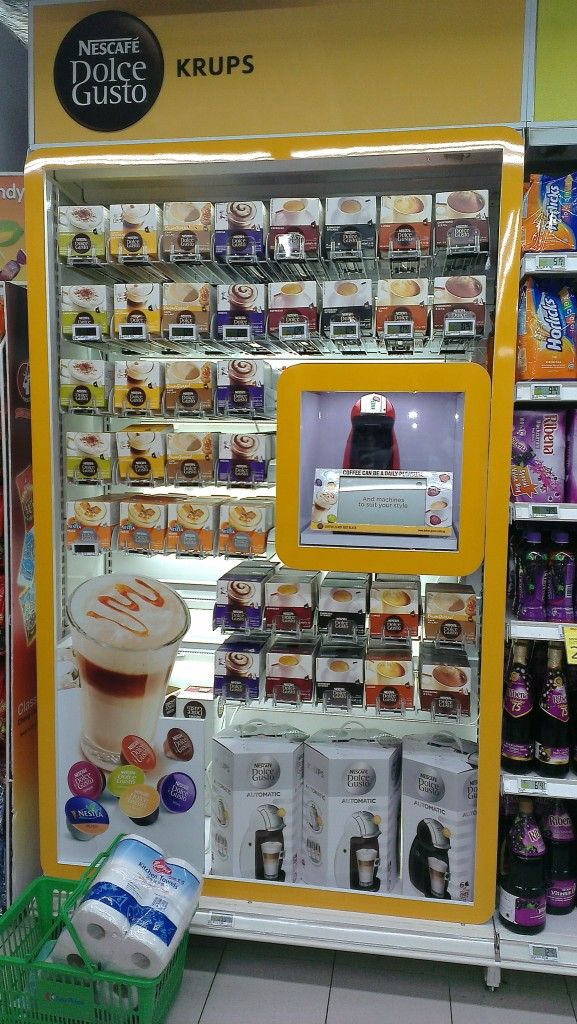 Nescafe Dolce Gusto Krups Display