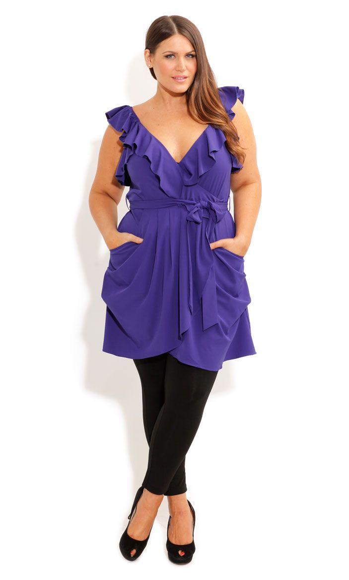 RUFFLE WRAP TUNIC - Women\'s Plus Size Fashion | clothing/accessories ...