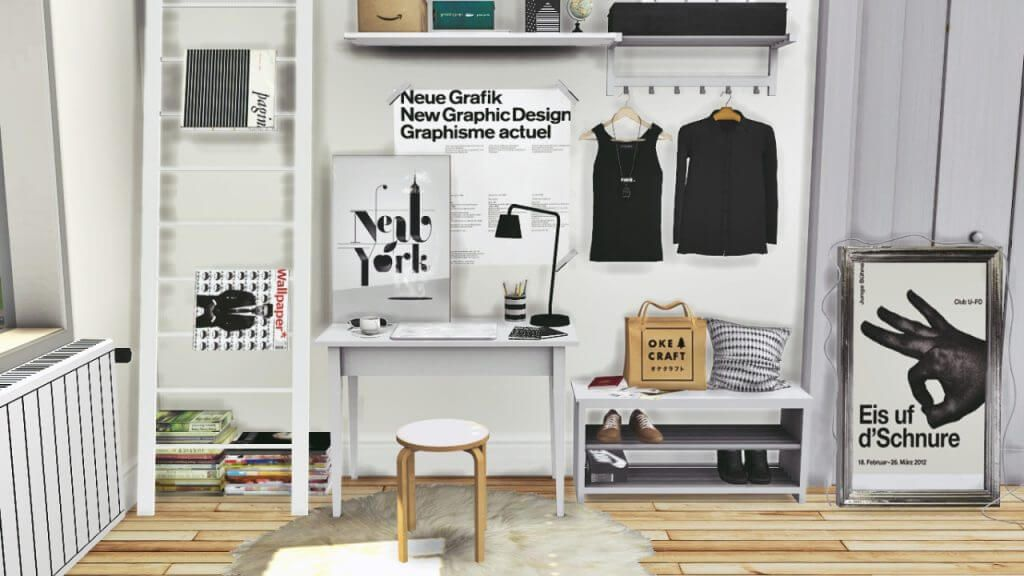 Sleek ikea office for the sims 4 sims pinterest sims sims 4