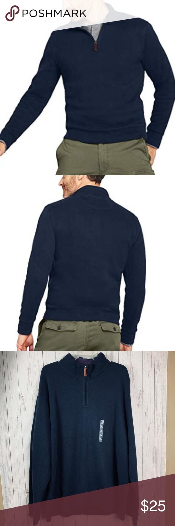 Lands End Bedford Rib Quarter Zip Pullover Xxl Nwt Lands End Bedford Rib Quarter Zip Sweater Pull Ov Quarter Zip Pullover Quarter Zip Sweater Casual Sweatshirt [ 1740 x 580 Pixel ]