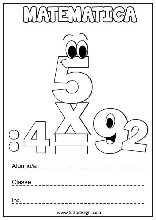 copertine-matematica-numeri-2 (con immagini) | Quaderni ...