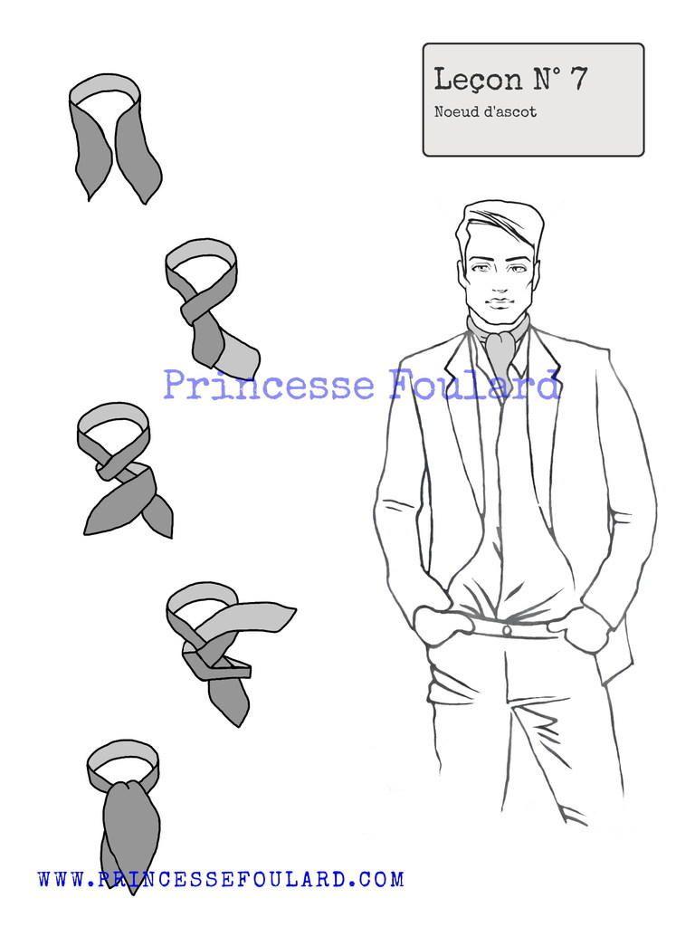 0f3a7cb017fd Princesse foulard vous donne ses conseils de mode, comment nouer un foulard  sous la chemise pour un homme ou une femme avec un costume ou tailleur.
