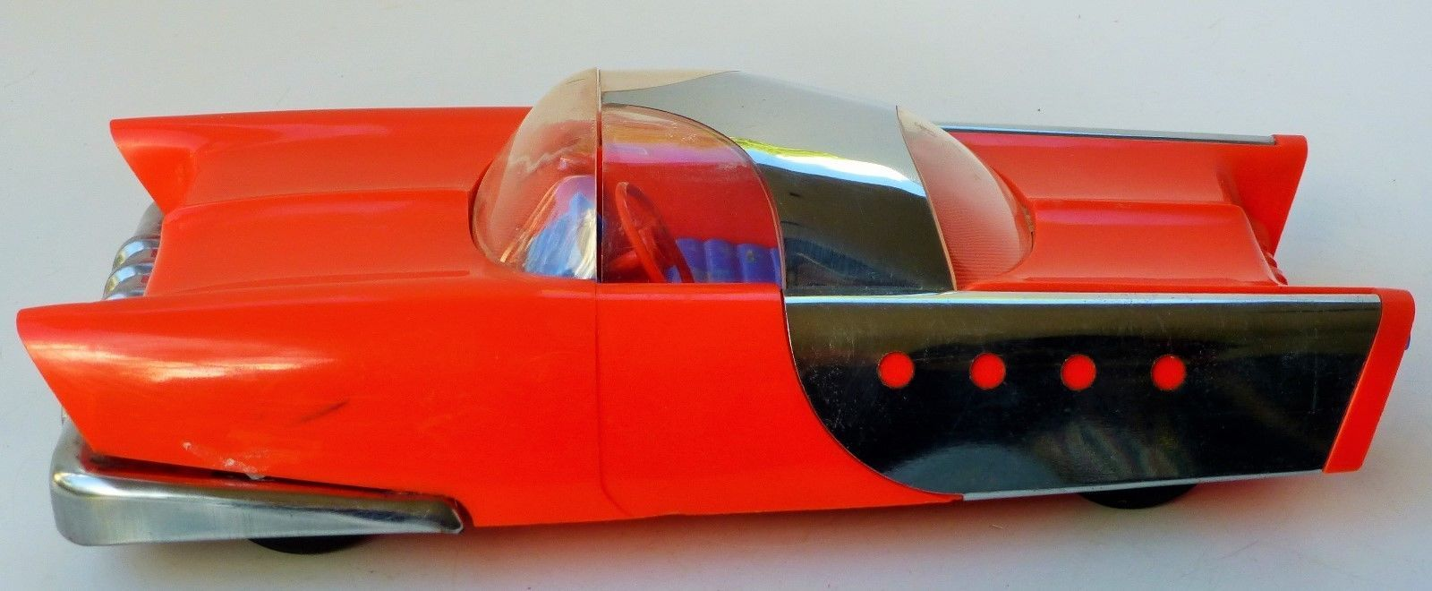 """1950's RARE Find """"Bomber Bubble"""" The Mattel Dream Car Friction with Box 10"""" 