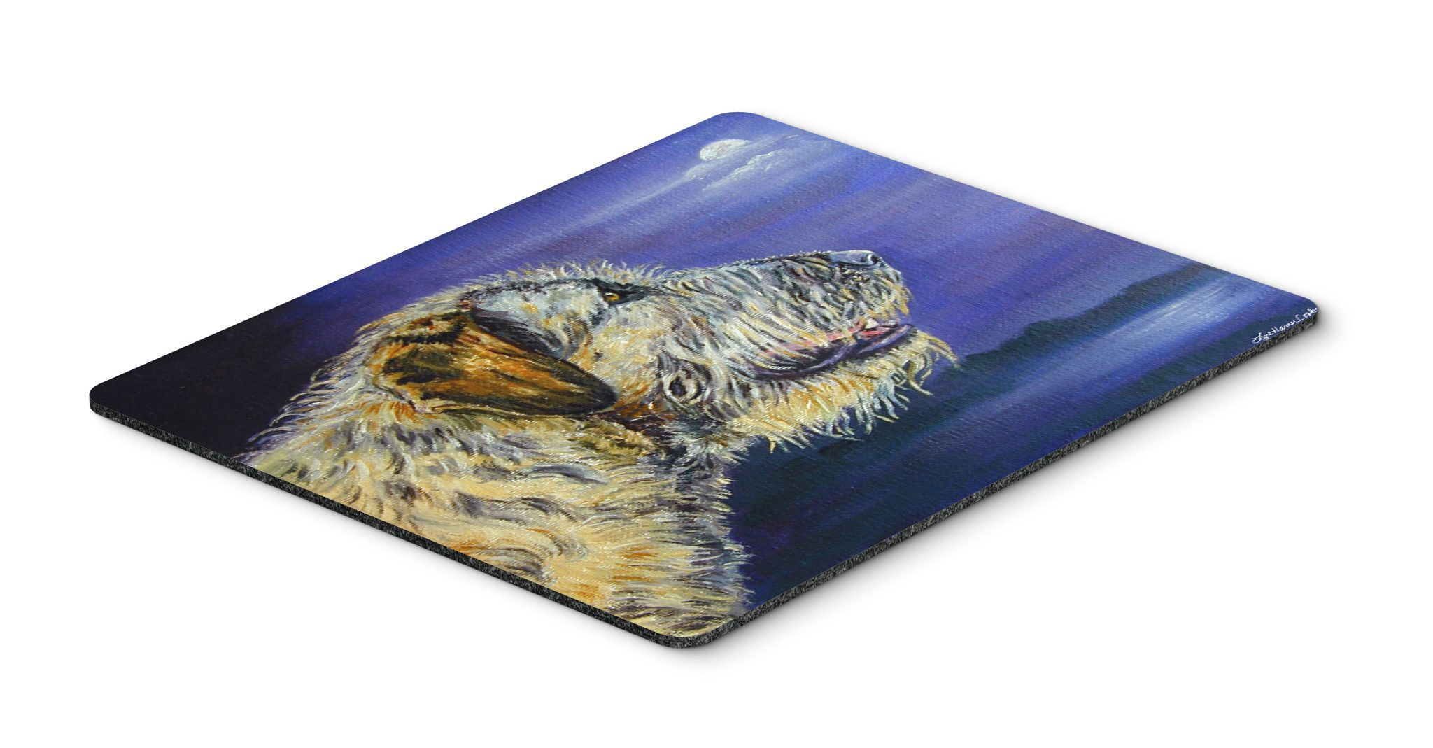 Irish Wolfhound Looking Mouse Pad, Hot Pad or Trivet 7352MP