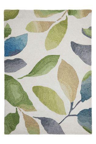 Wool Watercolour Leaf Rug Rugs Watercolor Leaves