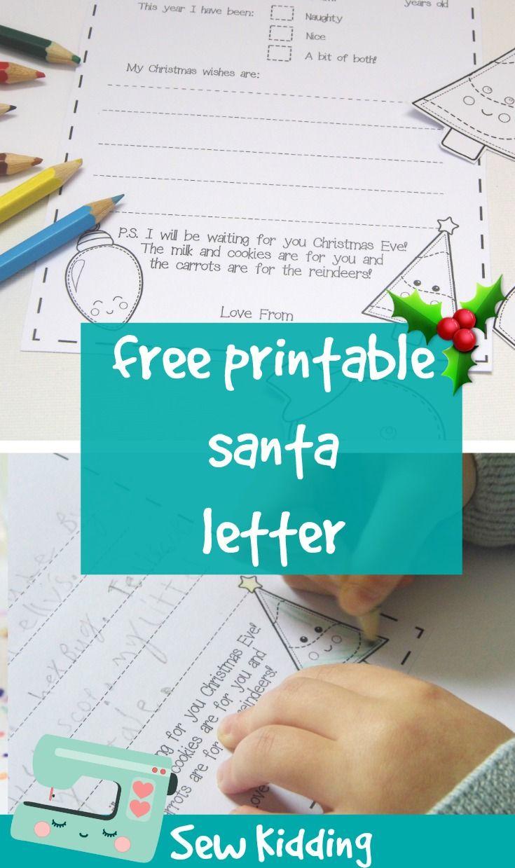 Free Santa Letter Printable  Printables    Santa Letter