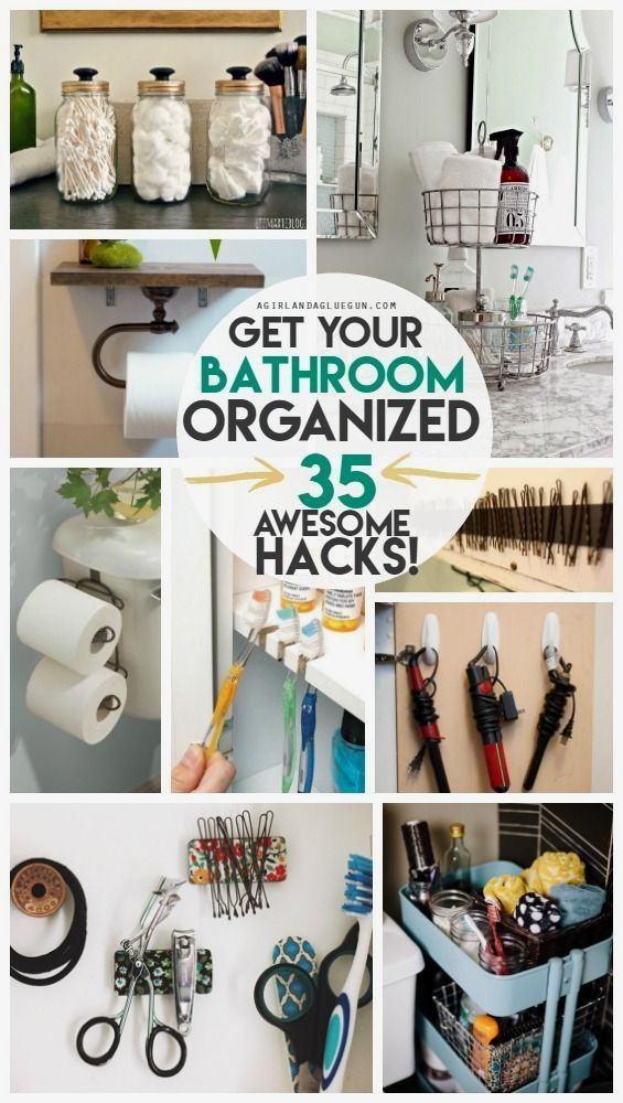Photo of 35 Bathroom Organization hacks! – A girl and a glue gun