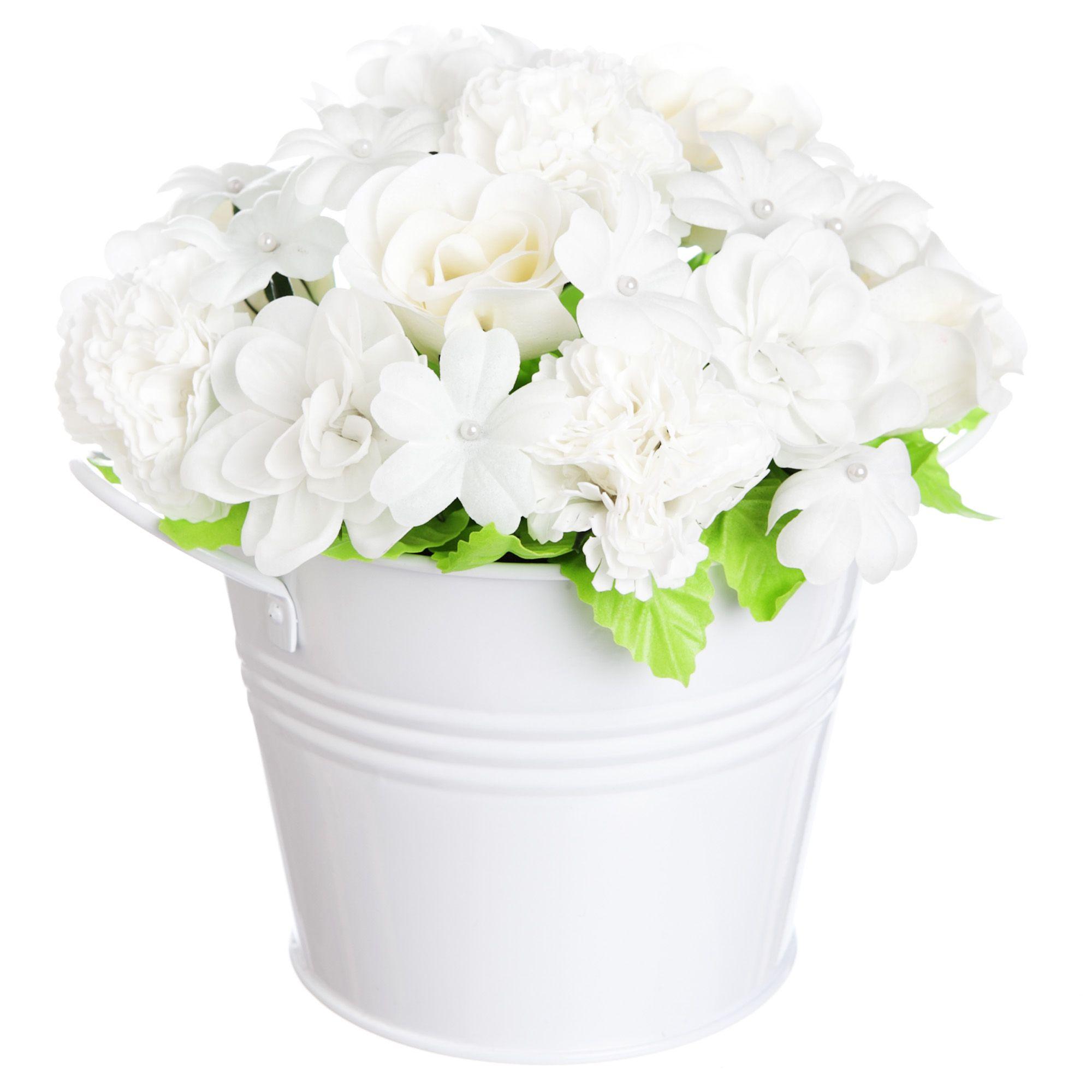 Beautiful white flowers in a white bucket weddings pinterest beautiful white flowers in a white bucket mightylinksfo