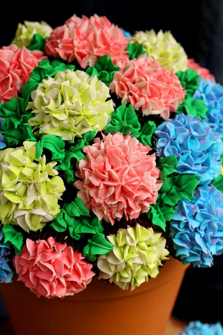 How To Make A Cupcake Bouquet With Video Cupcake Flower Pots