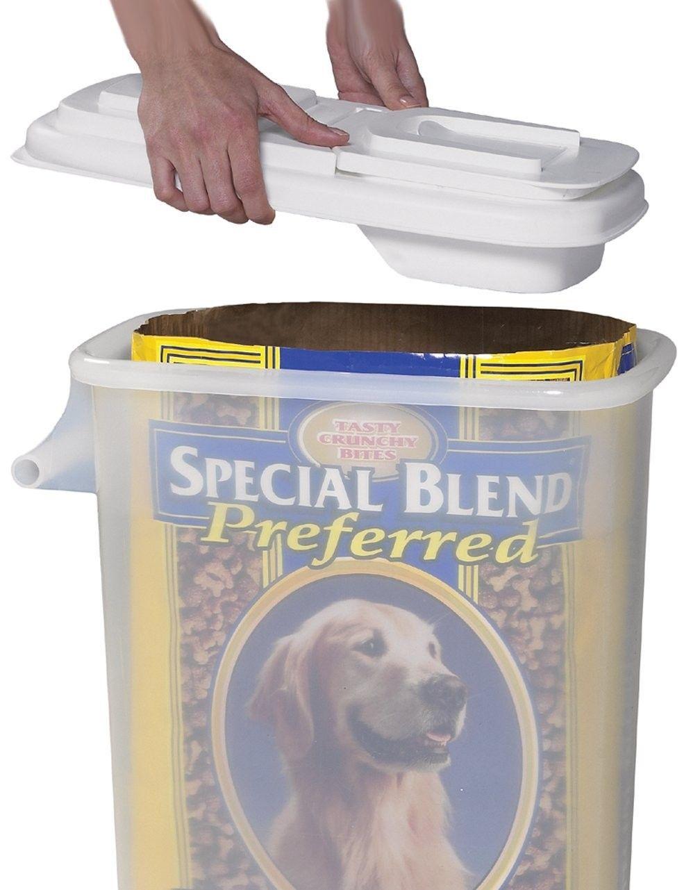 Buddeez Extra Large 32 Quart Bag In Pet Food Storage Container Pour N Dispenser
