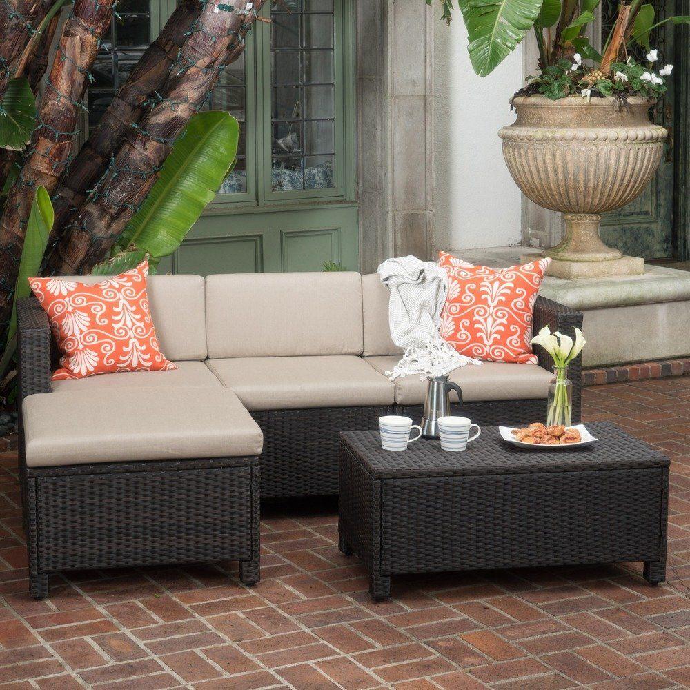 Moses 5 Piece Outdoor Sofa Set Comfortable Patio Furniture Sofa Set Outdoor Sofa Sets