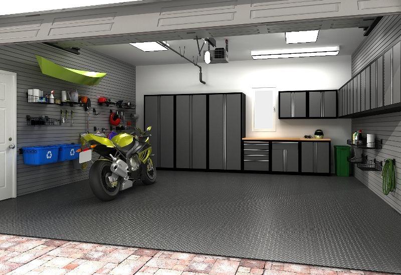 Beautiful 2 Car Garage Organization Ideas Part - 12: Garage Flooring Ideas - Garage Floors Have Come A Lengthy Method.