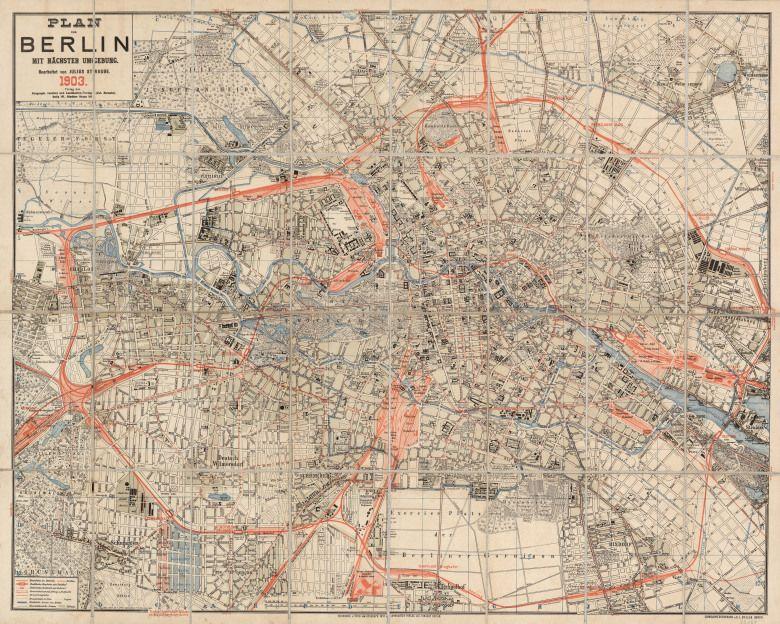 Straube Plan von Berlin 1903