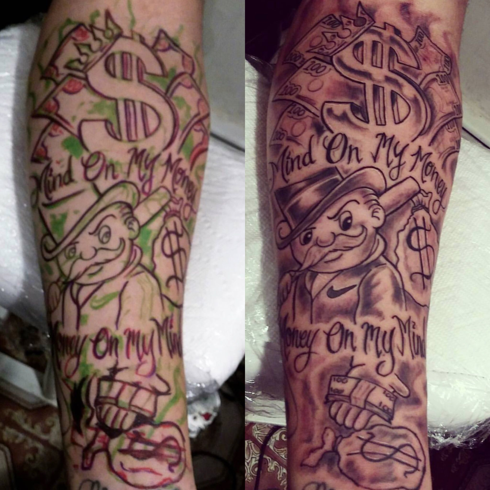 Monopoly Tattoo By Rokmatic Ink With Images Money Tattoo