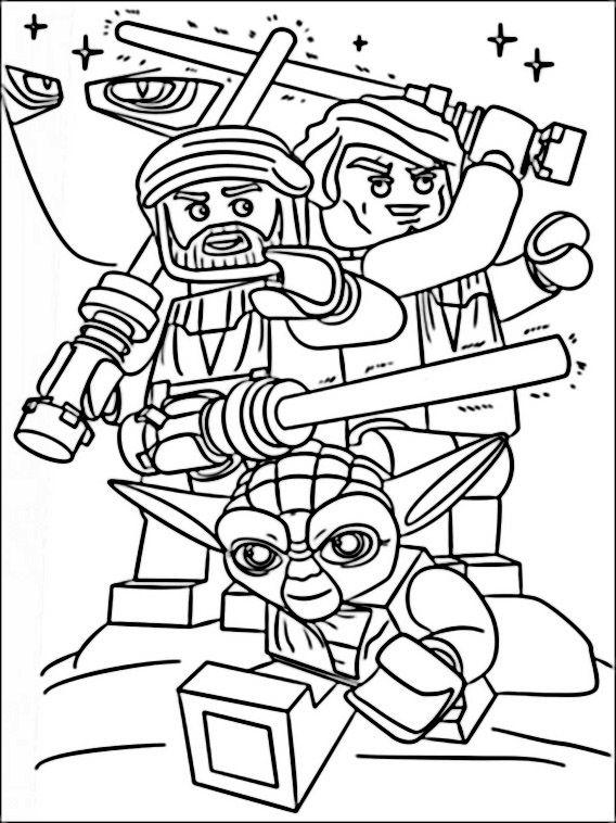 lego star wars 9 ausmalbilder für kinder malvorlagen zum