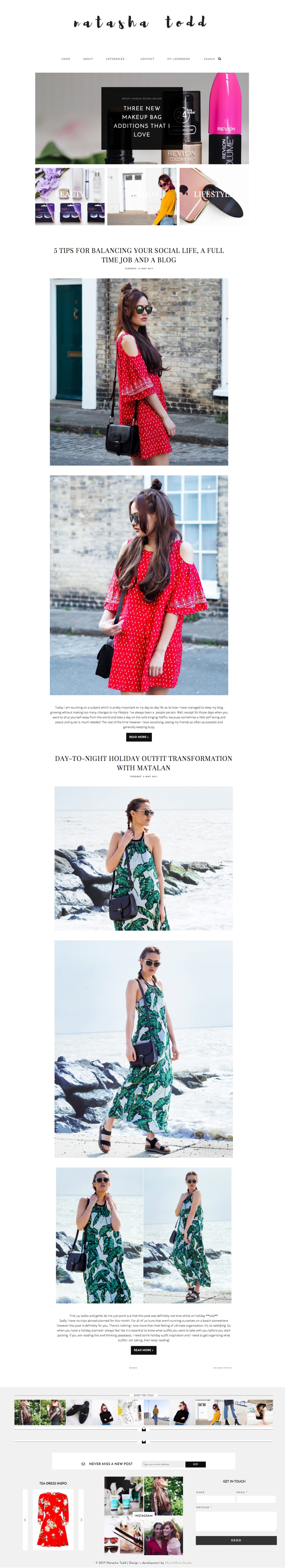 Blogger Template for Fashion Bloggers / High Street 2.0 / Fashion ...
