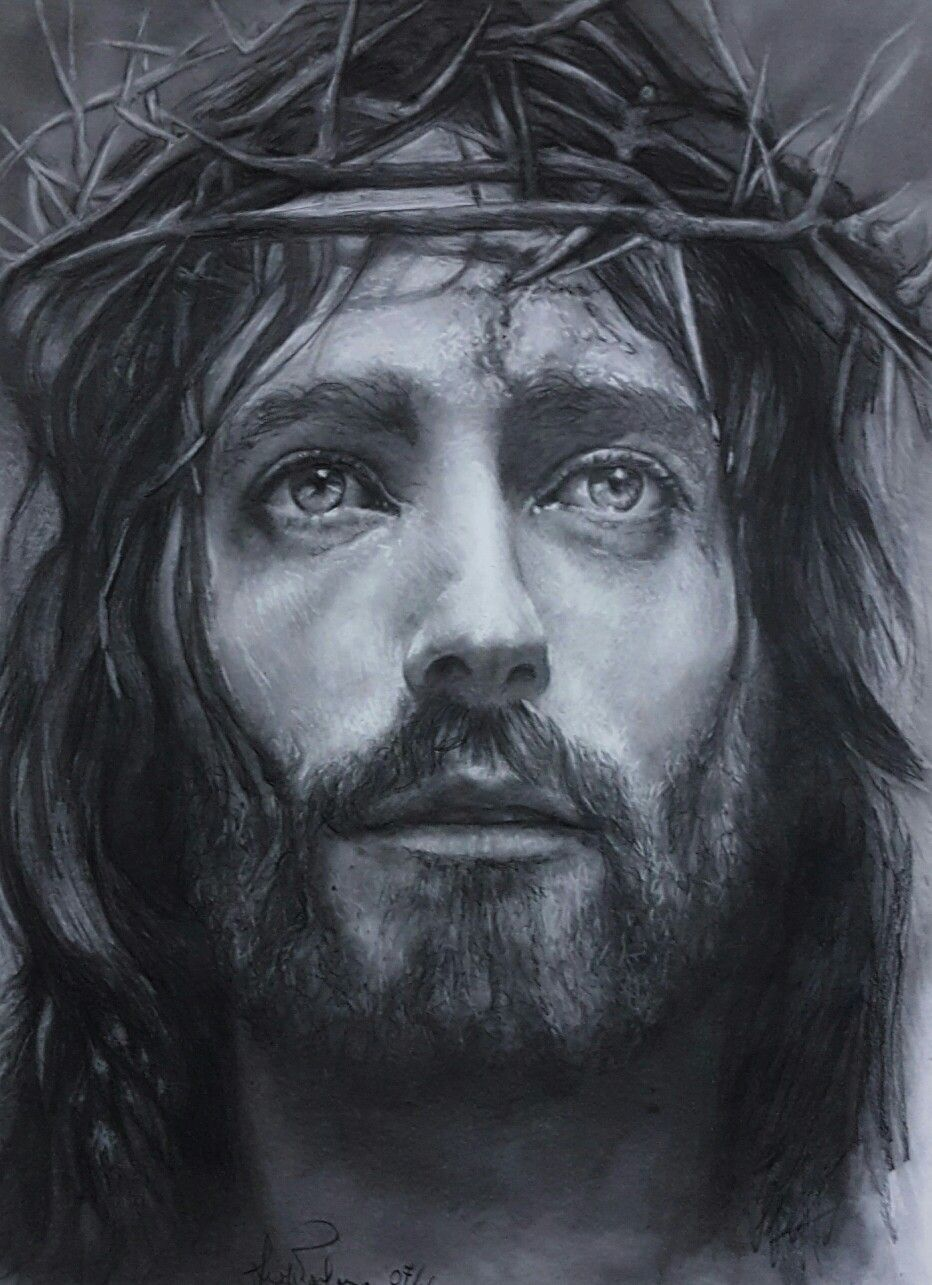 Jesus r powell charcoal on paper 35x50 year 2016