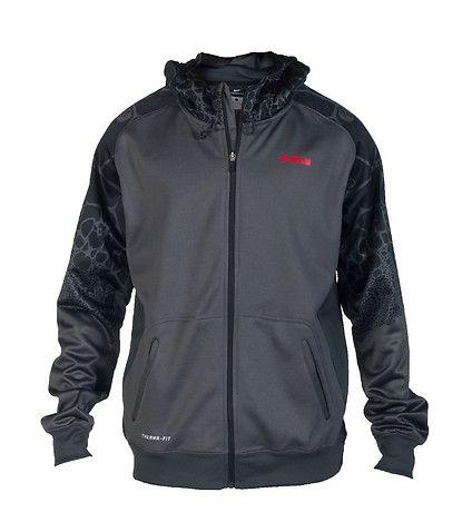 NIKE Lebron James Track jacket hoodie Adjustable pull-cord on hood Long  sleeves LJ crown
