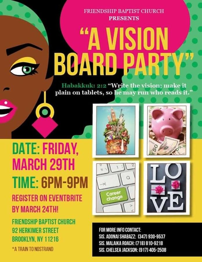 Local Event Vision Board Party Vision Board Party Vision Board Invitation Vision Board