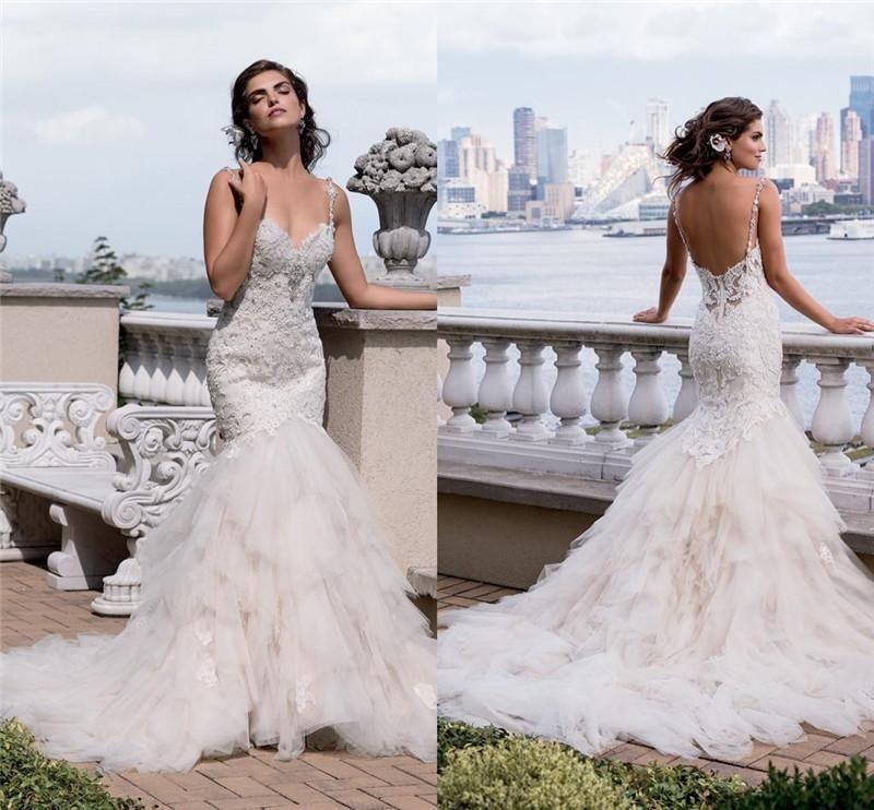2017 gorgeous eve of milady lace mermaid wedding dresses for Gorgeous backless wedding dresses